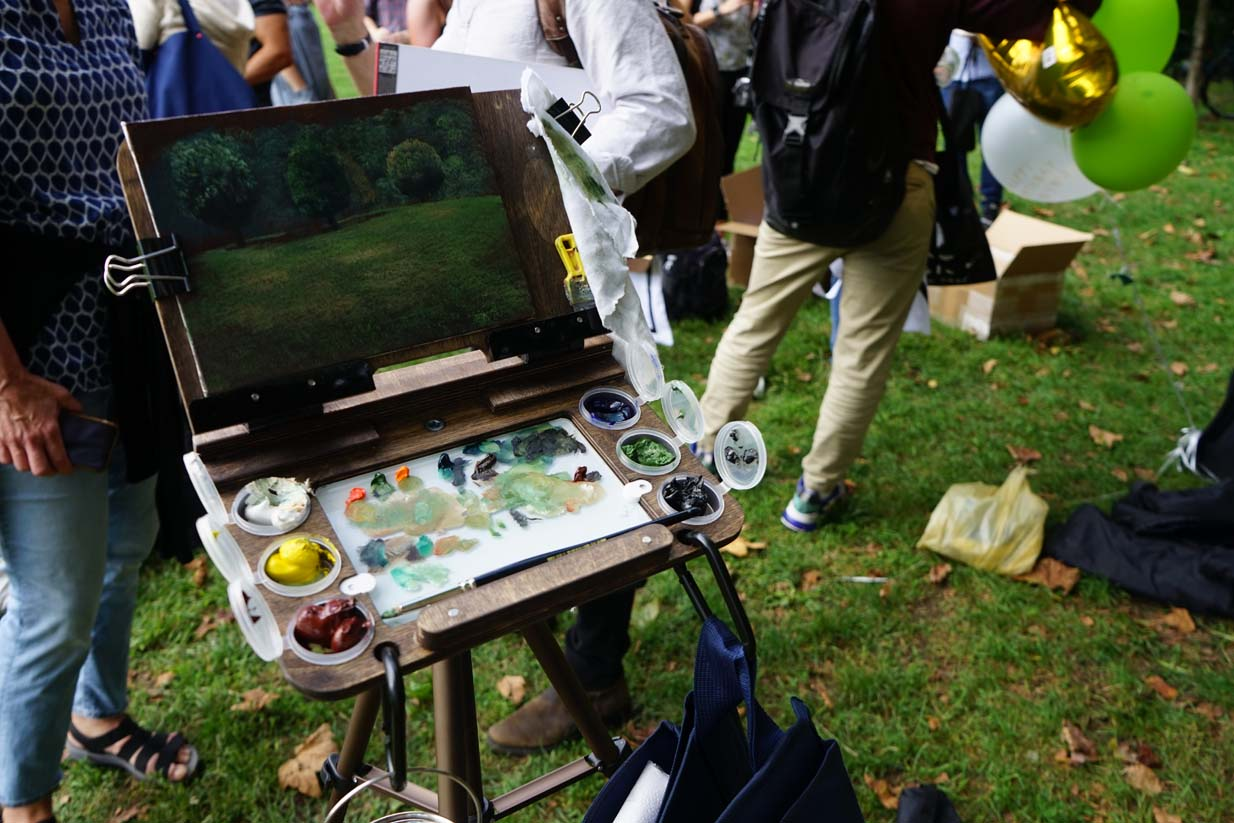 Sugarlift Plein Air Prospect Park Painting by Eileen Murphy