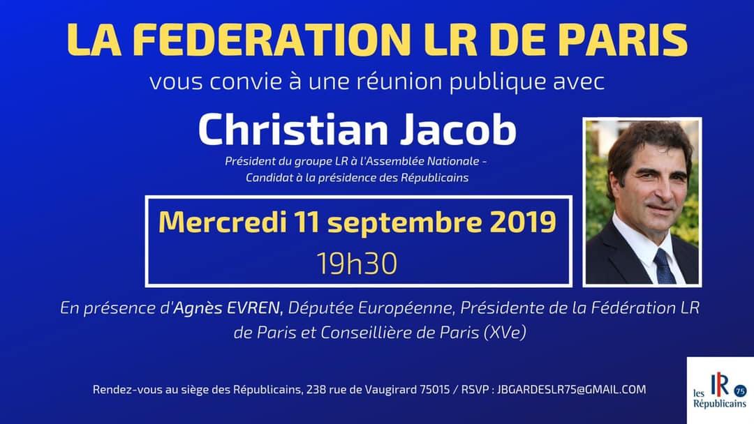 Réunion publique avec Christian Jacob