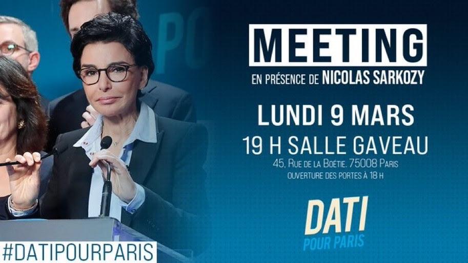 Message d'Agnès EVREN : Meeting de Rachida DATI salle Gaveau
