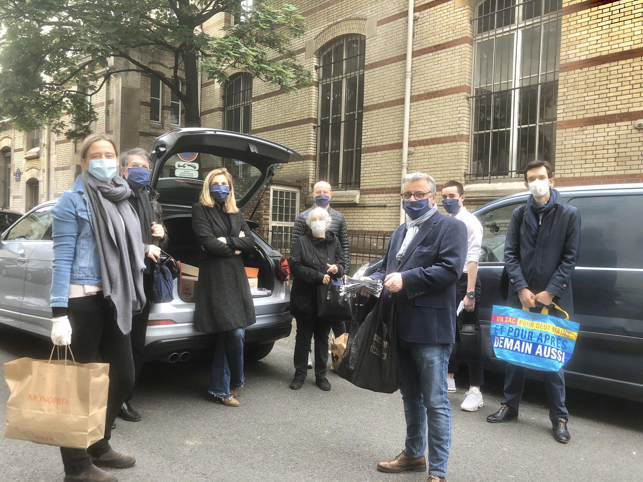 La Fédération LR de Paris fournit des masques en tissu gratuits aux + de 65 ans