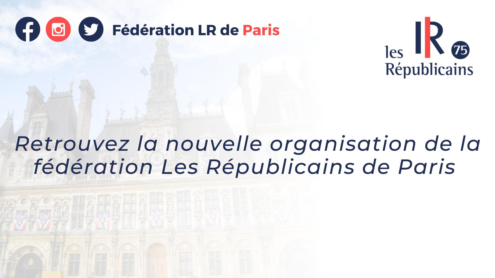 Nouvelle organisation de la Fédération Les Républicains de Paris