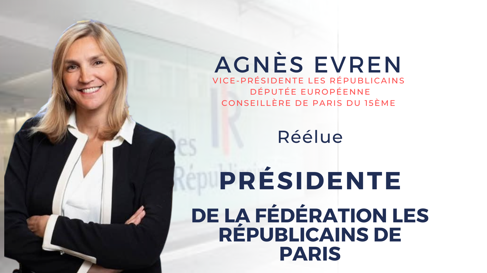 Agnès Evren réélue à présidence de la Fédération de Paris