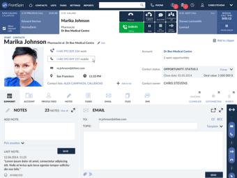Przykładowy ekran aplikacji Frontspin