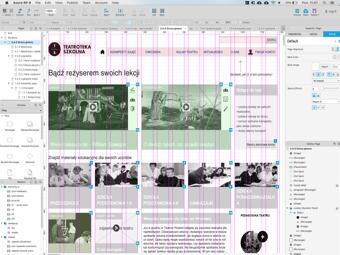 Przykładowy ekran strony Teatroteka szkolna