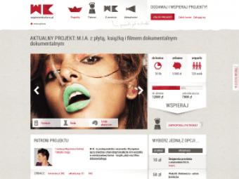Projekt graficzny strony Wspieram Kulturę