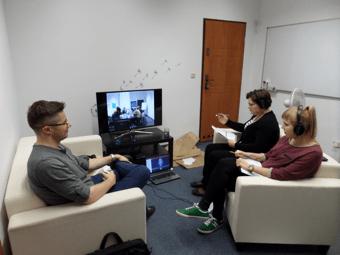 zespół badawczy w obserwatorium