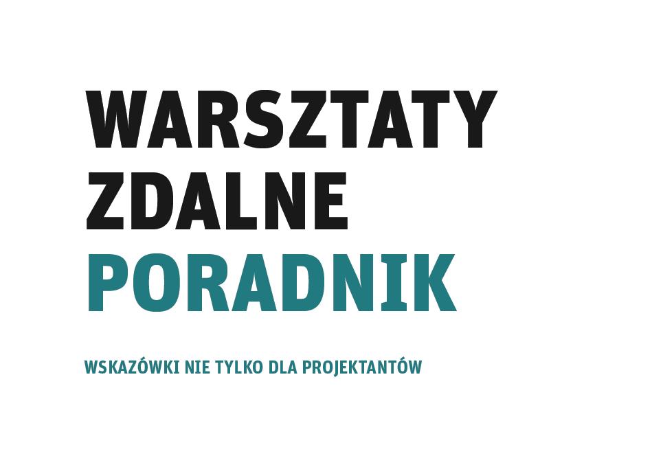Ilustracja z napisem Warsztaty zdalne poradnik