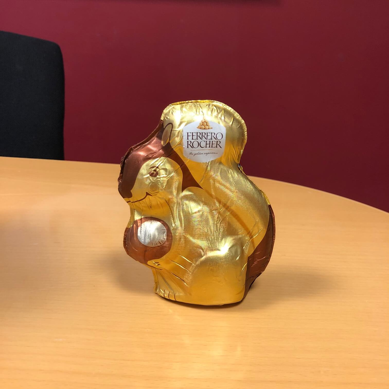Ferrero Rocher's squirrel shaped easter egg.