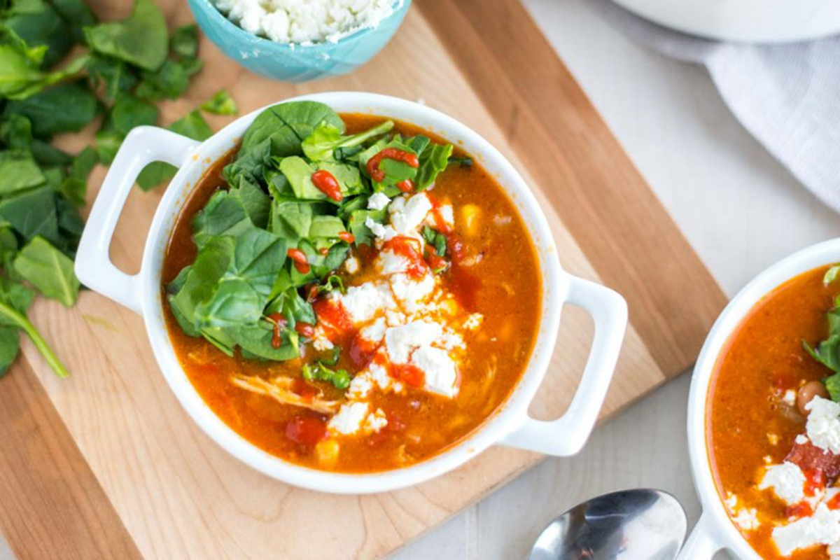 12 Healthy, Easy Dinner Recipes You Have to Try This Week - Slow-Cooker Buffalo Chili