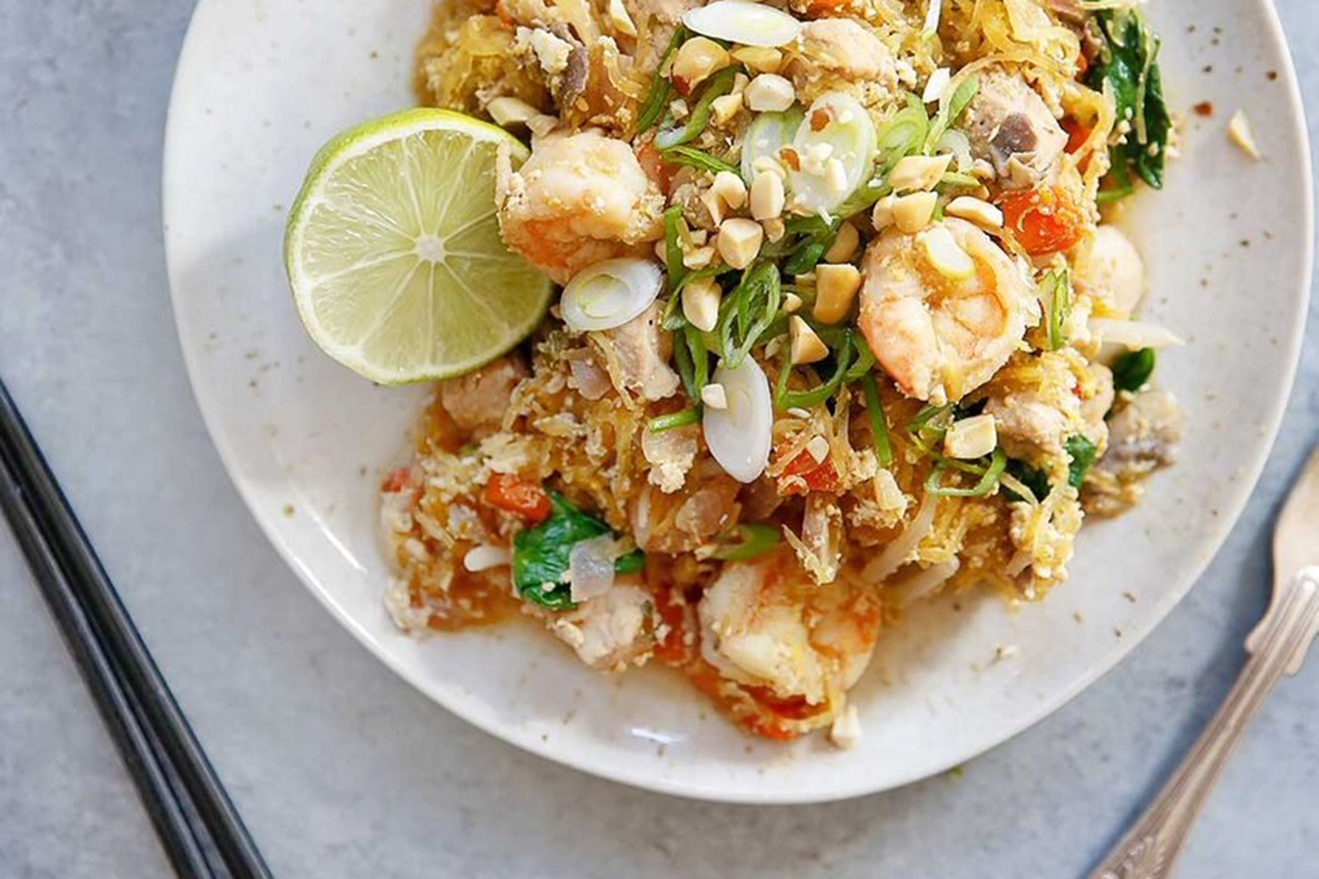 12 Healthy, Easy Dinner Recipes You Have to Try This Week - Spaghetti Squash Pad Thai