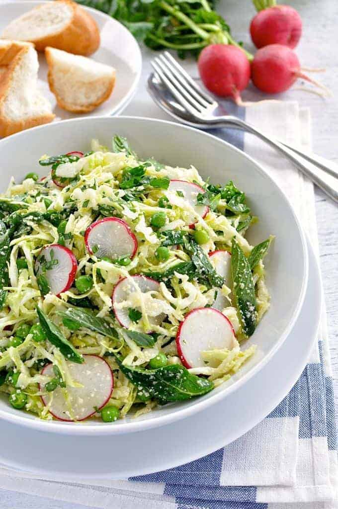 Try These Incredible 15-Minute Meals Tonight: Pea, Cabbage, Mint Salad