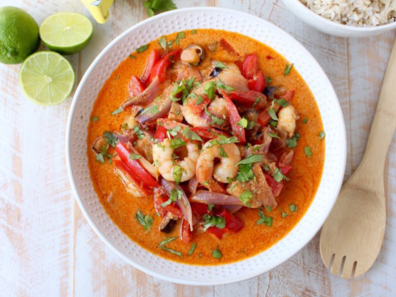 Easy Weeknight Dinner: Red Curry Shrimp