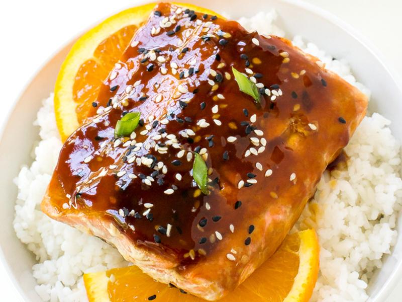 Easy Weeknight Dinner: Orange Teriyaki Salmon