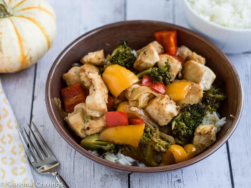 Easy Weeknight Dinner: Sheet Pan Chicken Stir Fry