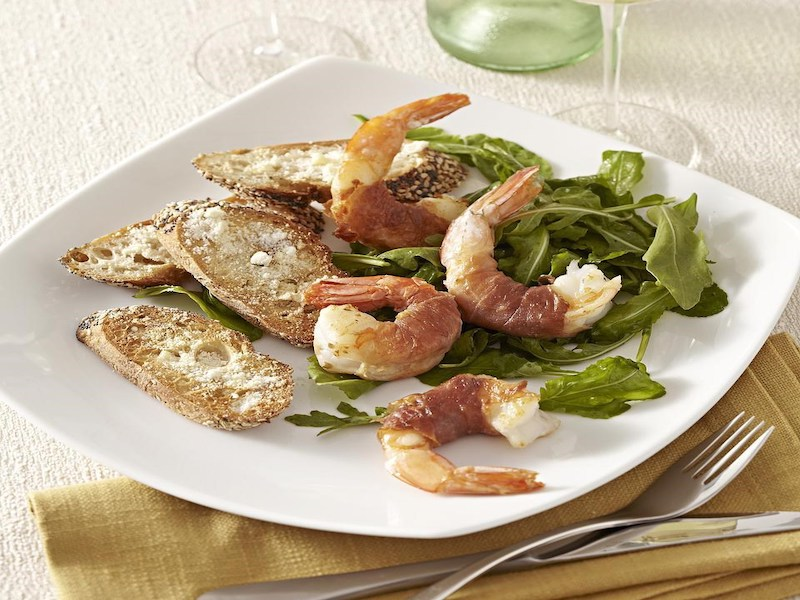 Dinner Ideas for Two: Prosciutto-Wrapped Shrimp