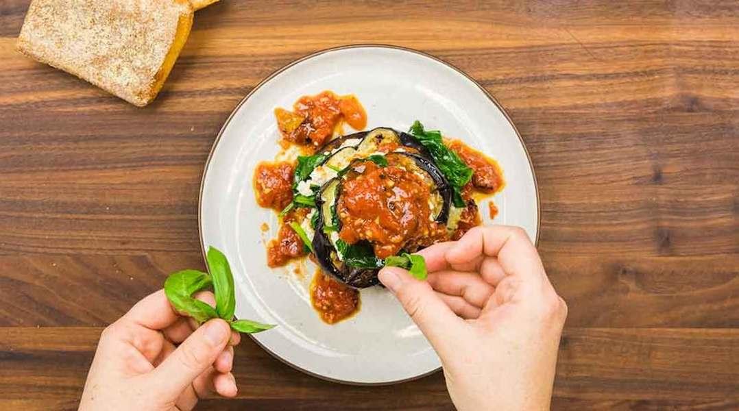 Dinner Ideas for Two: Eggplant Florentine