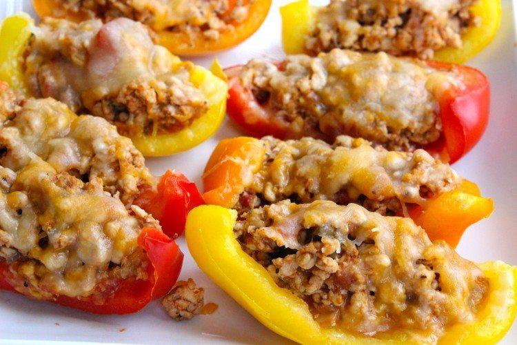 Easy Dinner Ideas for Two: Bell pepper boats
