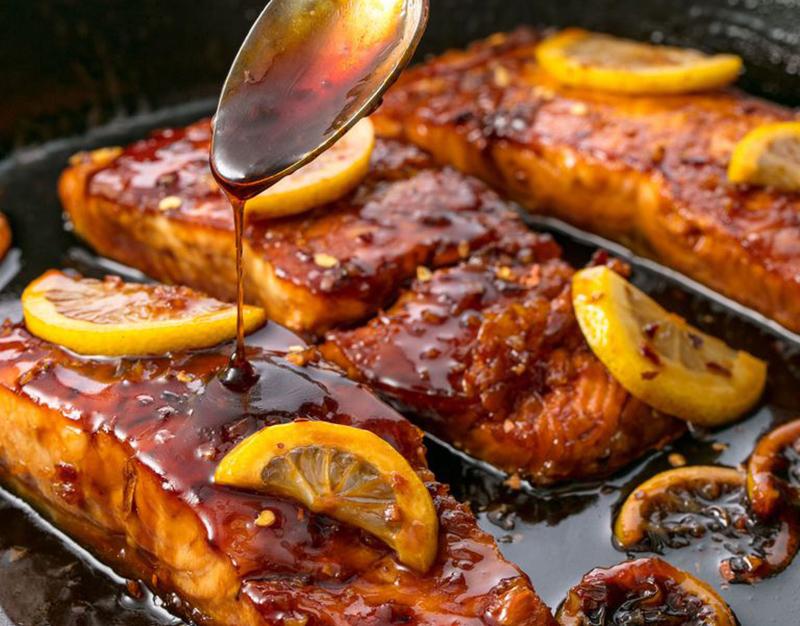 Easy Dinner Ideas for Two: Glazed salmon