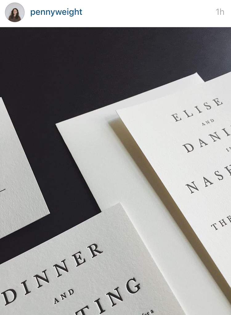 Johannis letterpress wedding invitations.