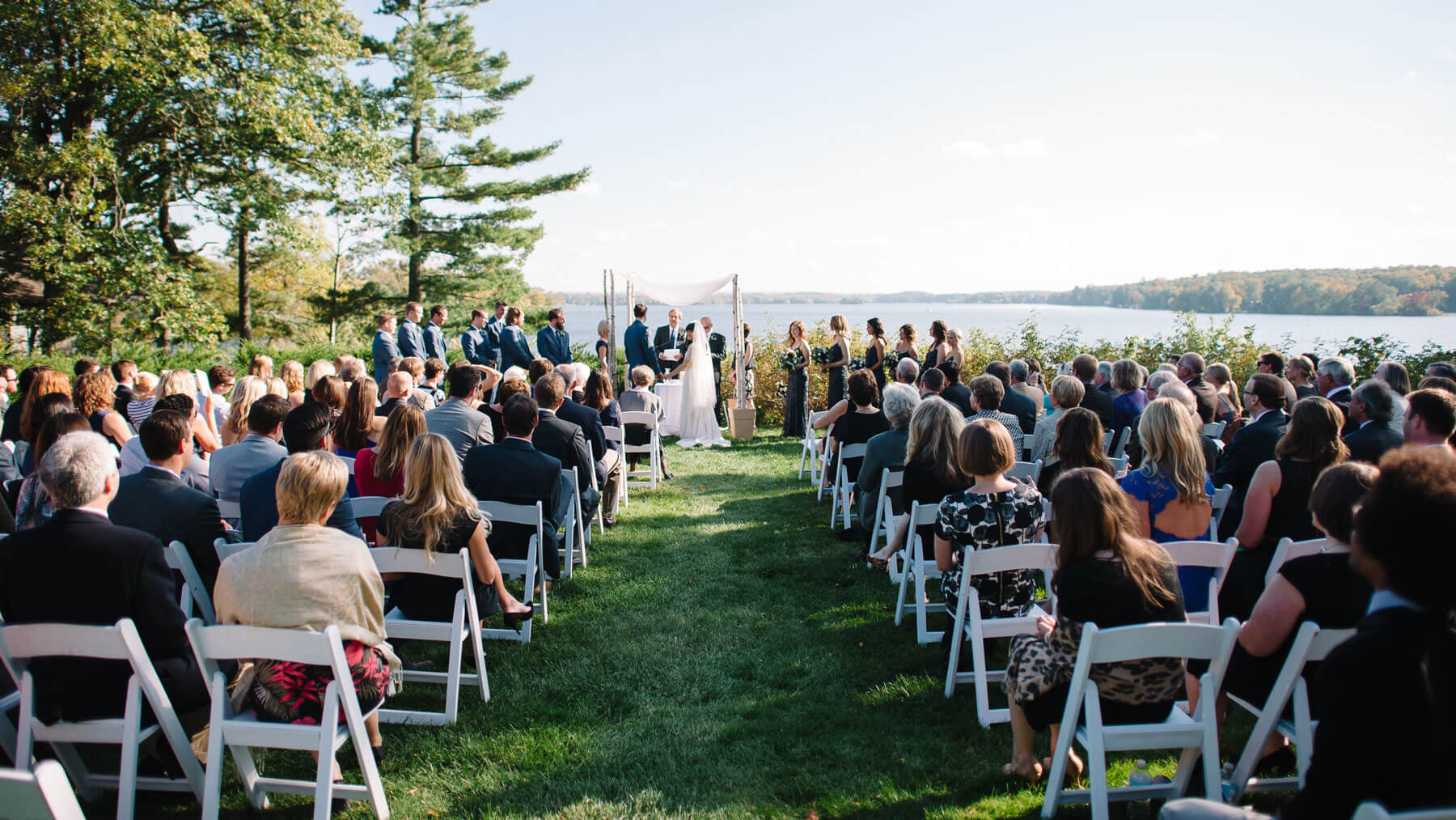 An Island Wedding Nestled in Wisconsin – by Carrie Anton
