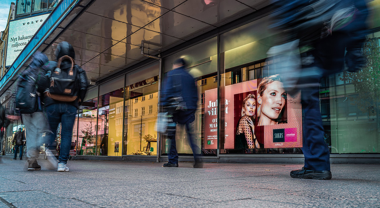 Window Led Screens at Sokos Department Store, Tampere