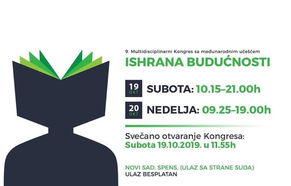 """Sanja Milosavljević na IX kongresu """"Ishrana Budućnosti"""" - Spens 19.10.2019."""