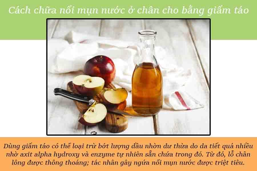 giấm táo trị ngứa cho bà bầu