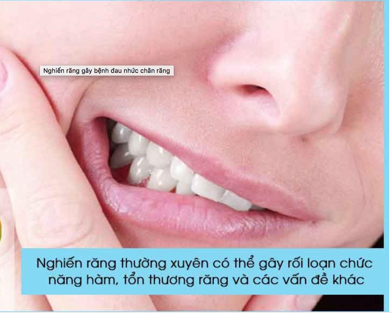 nghiến răng làm đau răng