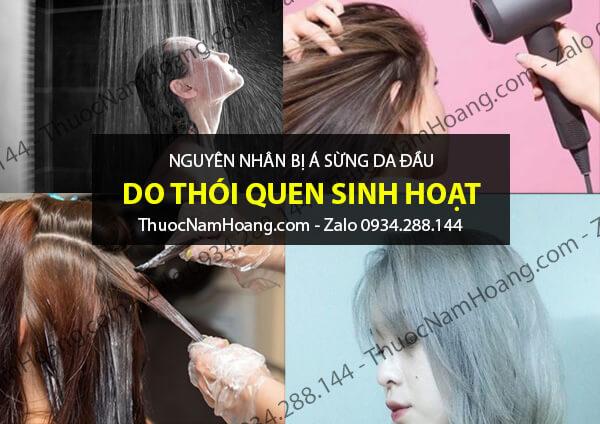 nguyên nhân bệnh á sừng da đầu