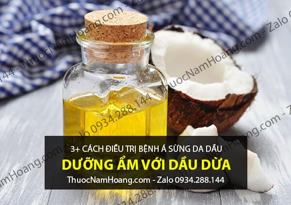 cách chữa á sừng da đầu bằng dầu dừa