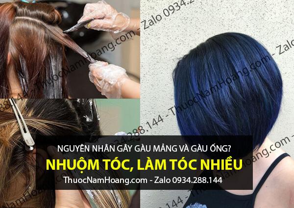 nhuộm tóc gây gàu mảng