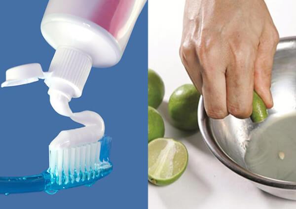 tẩy râu bằng kem đánh răng