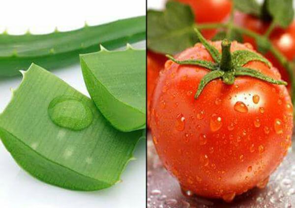 cách tẩy lông ria mép bằng cà chua và nha đam