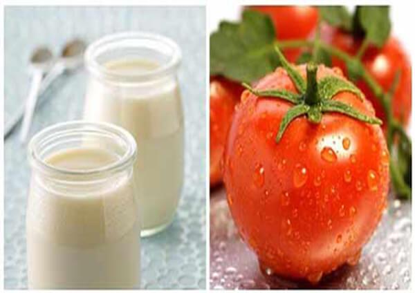 cách tẩy râu ria mép bằng cà chua và sữa chua