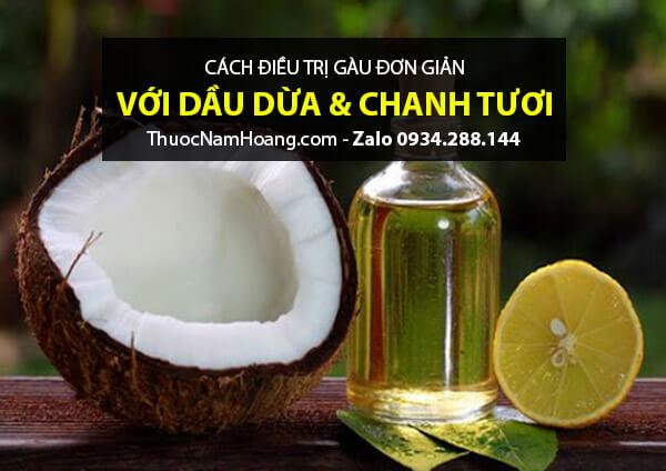 Cách trị tóc gàu bằng dầu dừa và chanh loại bỏ bã dầu