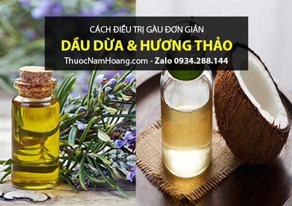 Cách gội đầu sạch gàu bằng dầu dừa và hương thảo cho da nhạy cảm