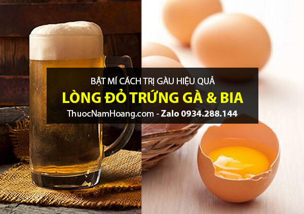 Cách trị sạch gàu tại nhà bằng lòng đỏ trứng gà và bia