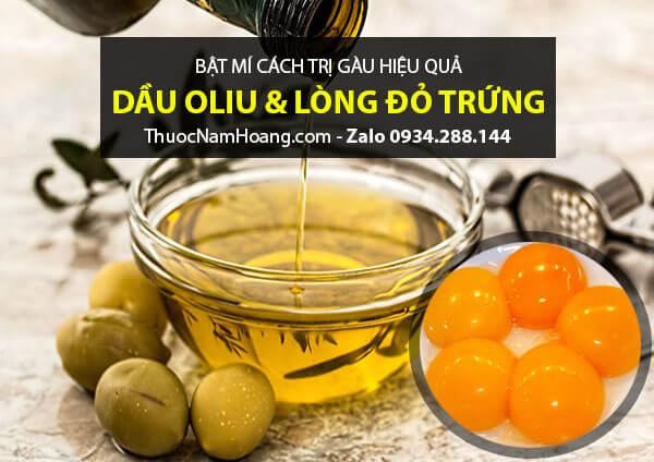 Cách chữa gàu da đầu bằng dầu oliu với lòng đỏ trứng gà