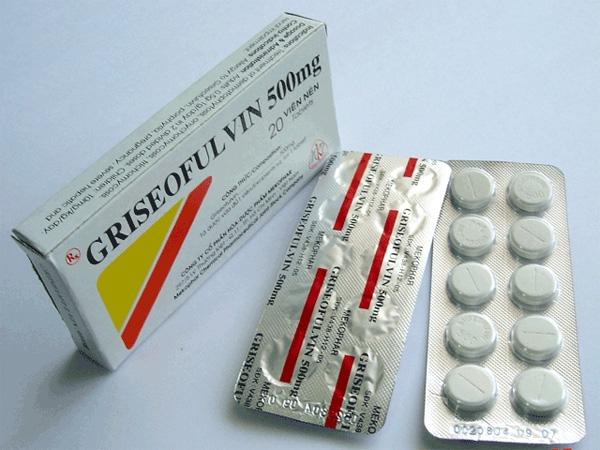 Thuốc trị lác đồng tiền Griseofulvin