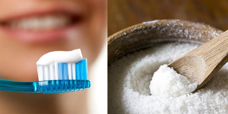 Sử dụng kem đánh răng và muối trị hắc lào