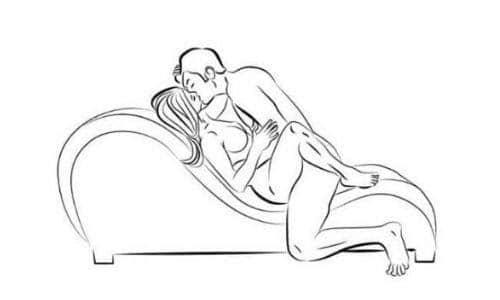 Tư thế cổ điển trên ghế tình yêu