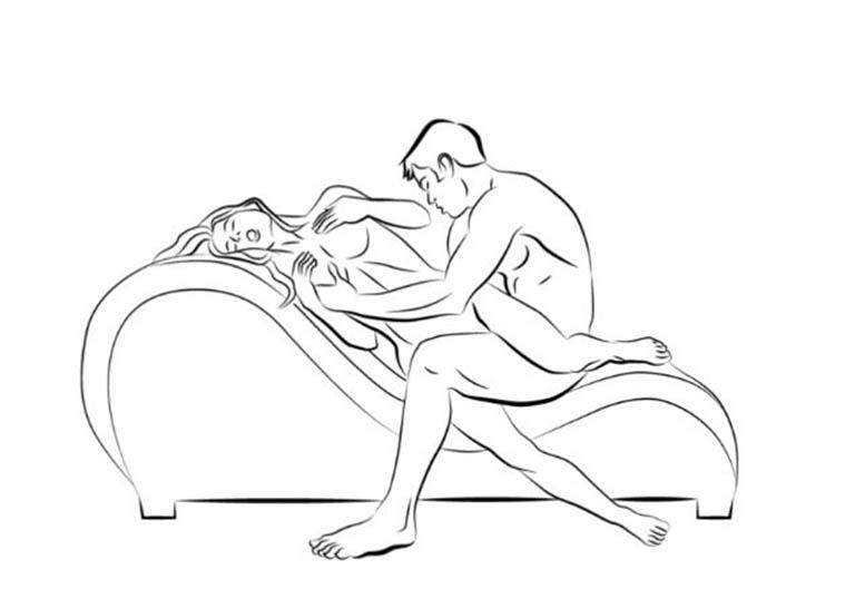 Tư thế gốc tư trên ghế làm tình