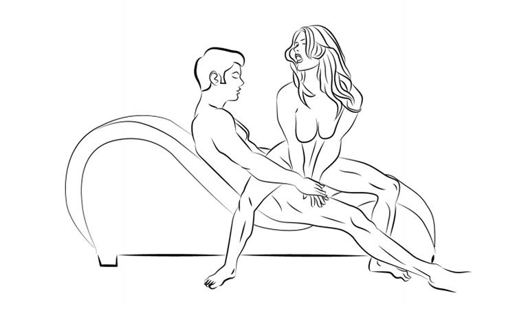 Tư thế  nhảy ếch trên ghế tình yêu