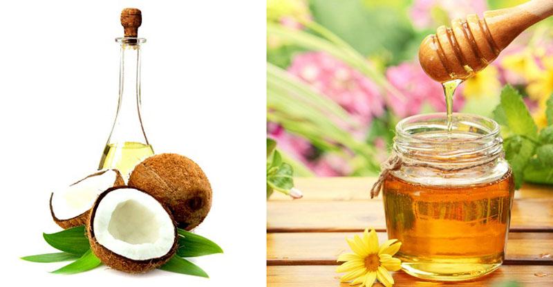 Trị chàm khô bằng dầu dừa và mật ong