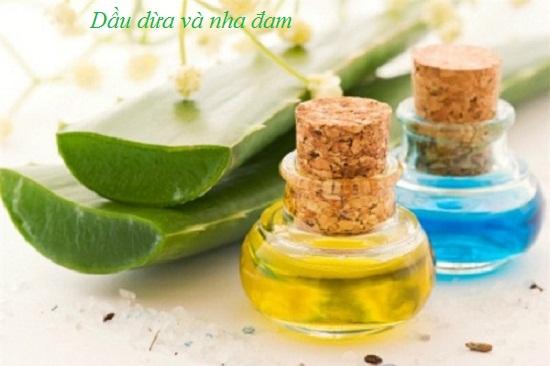 Cách chữa chàm bằng dầu dừa kết hợp nha đam