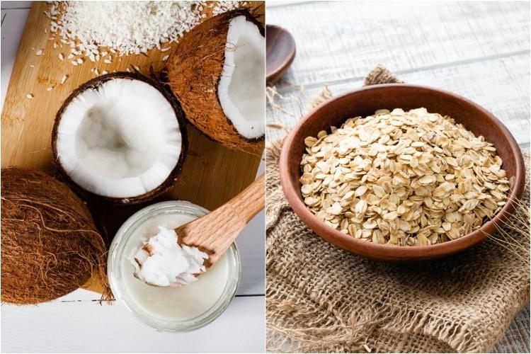 Dầu dừa và bột yến mạch trị chàm sữa