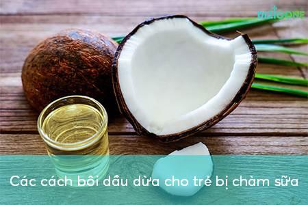 Ưu và điểm yếu kém các cách điều trị chàm sữa bằng dầu dừa