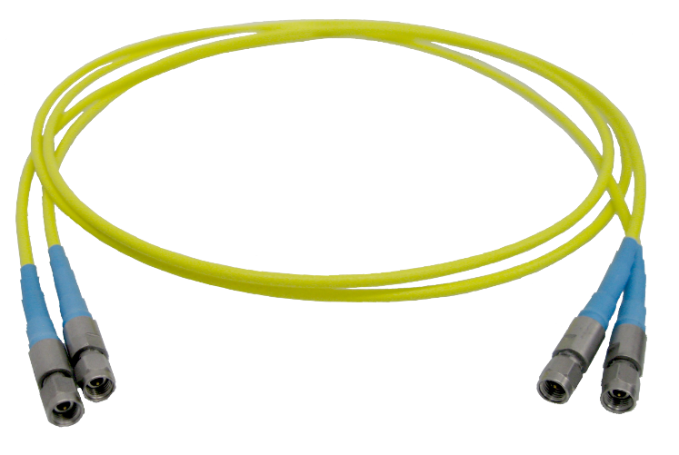 skew matched, phase stable high performance flexible coaxial cable assemblies