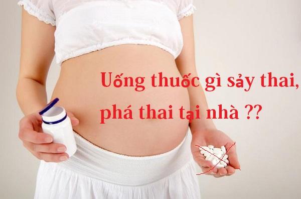 Uống thuốc gì có thể gây sảy thai, phá thai tại nhà được?