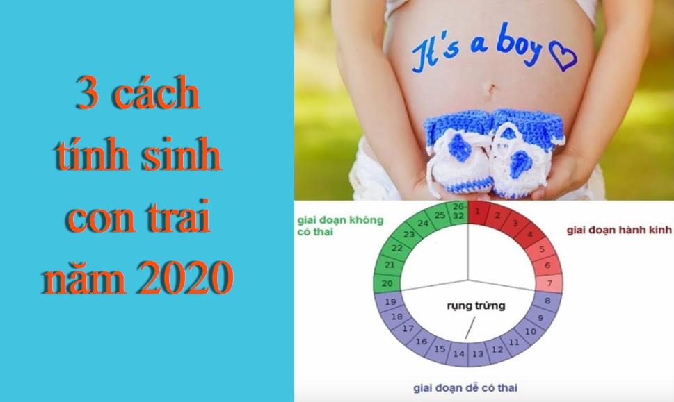 Tổng hợp 5 cách tính mang thai sinh con trai chính xác nhất